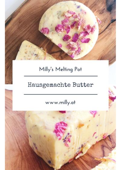 Bist du kreativ und machst gerne Sachen selber? Dann ist dieses Rezept für hausgemachte Butter ideal! Lass deine Küchenmaschine die Arbeit erledigen und geniesse den cremigen Geschmack frischer Butter! #rezept #butter #schnell #lowcarb