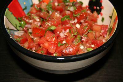 Tomate, Koriander, Salsa, Sauce, Schalotte, Knoblauch, Zitrone