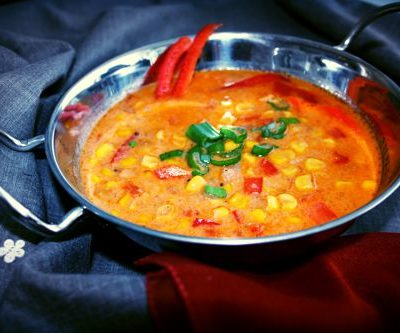 Mais, Sweet Corn, Coconut milk, paprika, curry