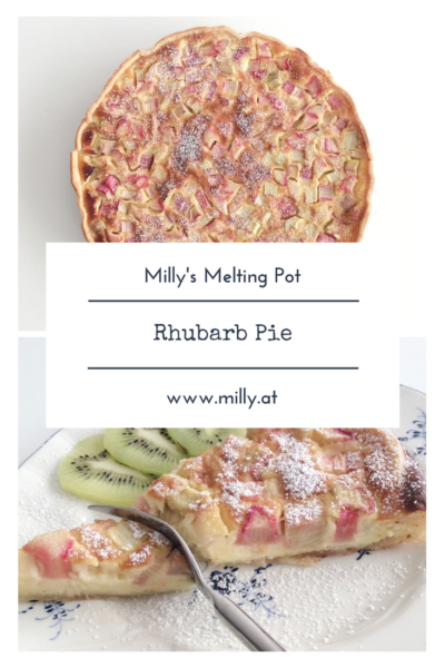 Rhubarb is one of the first spring messengers and you can use it in many recipes! My favorite is still this really quick rhubarb pie! #rhubarb #pie #recipe #quick