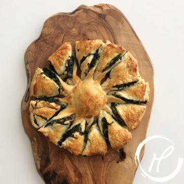 Blätterteig, spinat, puff pastry, spinach, ricotta