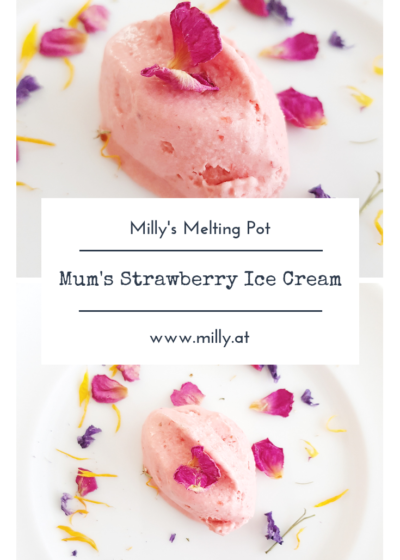 This recipe for a quick and absolutely delicious strawberry ice cream will win you over! ANd it is also easy to make with other fruits! #icecream #dessert
