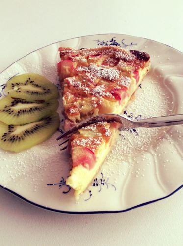 Rhabarber, rhubarb, taart, pie,