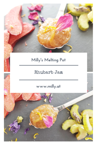 This recipe for a quick rhubarb jam will make you happy all year round! #rhubarb #jam #spring #sweet #breakfast #marmelade