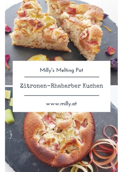 Zitronen-Mohn Kuchen mit saftigem Rhabarber - ein ideales Rezept für den Frühling! #rhabarber #zitrone #dessert #nachspeise #kuchen