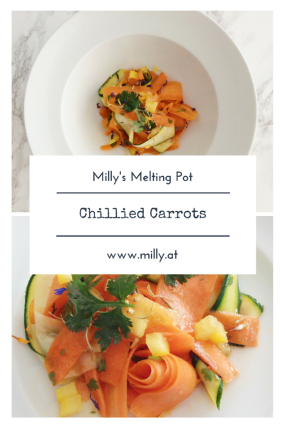 With summer on its way, all you want to eat is a fresh salad with wonderfully fresh ingredients. Colorful chillied carrots with zucchini - you will not believe the amount of flavour in this salad. #millysmeltingpot #recipes #fusion