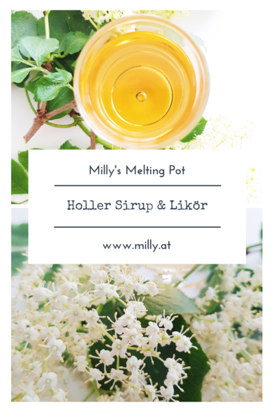 Selber genießen oder verschenken - jeder wird dieses Zitronenmelisse- Holunderblüten Likör lieben! #holler #holunder #likör #sirup #frühling