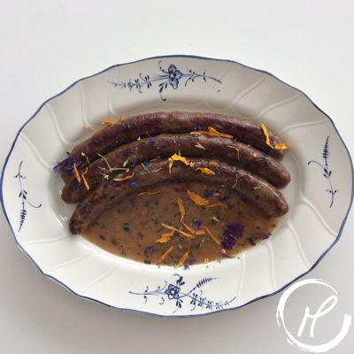 Wainzosiss, sausage, grobe bratwurst, mustard, senf, estragon, terragon