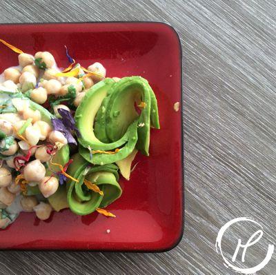 Kichererbsensalat, chickpea salad, salat, salad, yoghurt, koriander. coriander, cilantro, fresh, summer recipe, sommer rezept