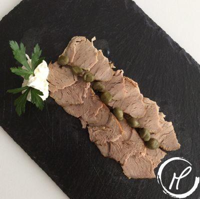 SChweinsfilet, porc filet, fleisch, meat, senf, knoblauch, kapern, mustard, garlich, capres, carpaccio