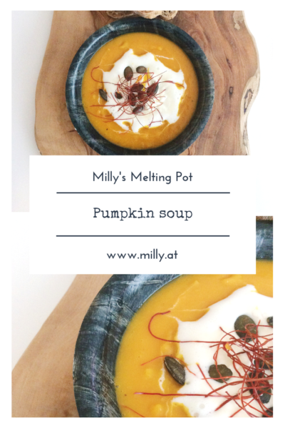 Autumn has started and what better than a pumpkin soup with a little bit of fire to warm yourself up when its chilly. #recipe #soup #pumpkin