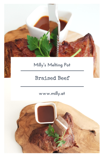 For an easy and hearty autumn sunday meal, try this braised beef! Its delicious and souwarming! # meat #sunday #roast