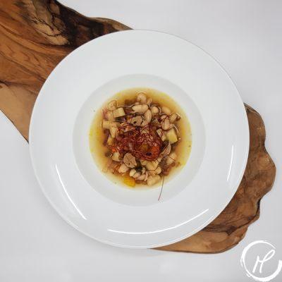 linsensuppe, lentil soup, weiße bohnen, white beans, black truffles, schwarzer trüffel,