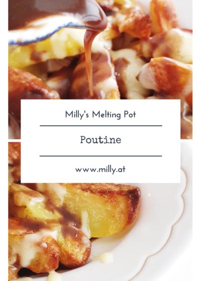 Poutine, das kanadische Fast-Food Gericht, ist das Comfort-Food schlechthin - knusprige Kartoffeln, cremig geschmolzener Käse sowie eine runde Bratensoße machen es zu einem absoluten Highlight! #rezept #poutine #vegetarisch #kartoffeln #kanada #snack