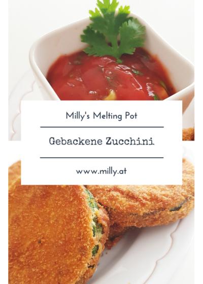 Diese gebackenen Zucchini Taler, frittiert oder aus dem Ofen, sind ideal als Vorspeise oder Salatbeilage. #Rezept #schnell #zucchini #vorspeise #fingerfood