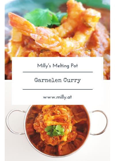 Dieses schnelle Garnelen Curry kombiniert die Herzhaftigkeitt von einem traditionellen indischen Curry mit der leichteren fruchtigen Note eines Thai Gerichts! #rezept #curry #garnele #schrimp #thai #indisch