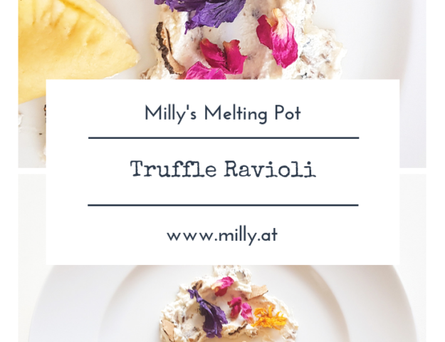 I wanted to share an easy but very tasty recipe with you, that you can prepare on special occasions - my truffle ravioli. Quick and delicious!