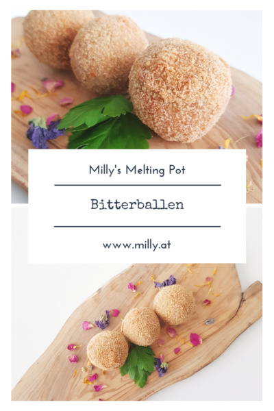Bitterballen are deepfried meat croquettes - they have a ragout of beef, they are breaded and then fried. #bitterballen #snack