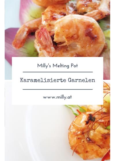 Frische karamelisierte Garnelen sind im handumdrehen fertig und schmecken absolut köstlich - süßes Fleisch mit frischer Limette! Unschlagbar!