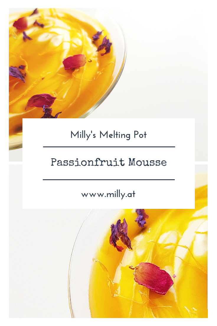 This light passionfruit mousse is done in 10 minutes and can be served at any occasion. It is also delicious when frozen!