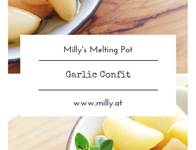 This garlic confit transforms strong garlic into silky smooth and spicy garlic - you won#t be able to live without it again. #garlic #starter #confit