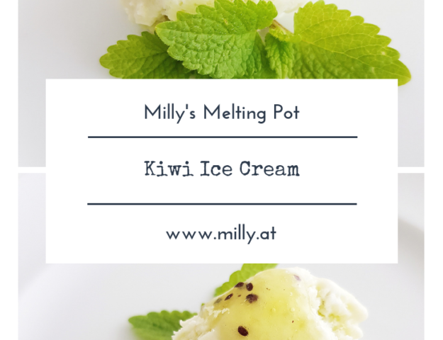 Quick, tasty and refreshing kiwi ice cream for those warm summer evenings! #kiwi #icecream #summer #gelato #fruit #cocktail #spring