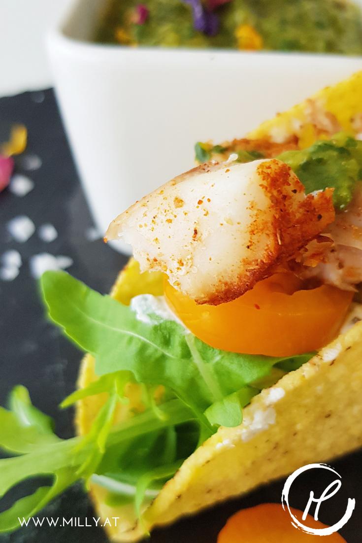 """Es war ein Versuch - aber diese """"Fish Tacos"""" sind eines der besten Rezepte meiner Bloggerkarriere :) Ideal für Kinder und leichte Sommerküche."""