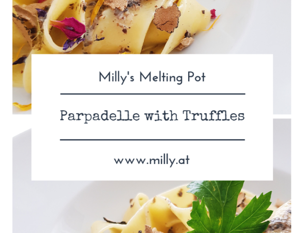 These papardelle are prepared really quickly and are absolutely delicious! #paprdelle #pasta #truffles #quick #dinner #lunch