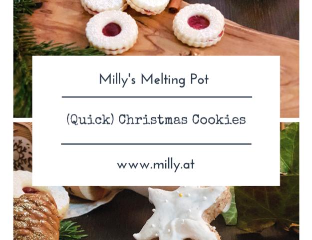 My 5 favorite Christmas Cookie recipes: Gingerbread, Linzer Augen, Vanilla Crescent Cookies, Cinnamon stars and a quick recipe for Spekulatius.